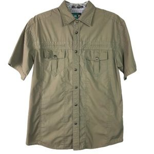 Franky Max short sleeve button down shirt size M